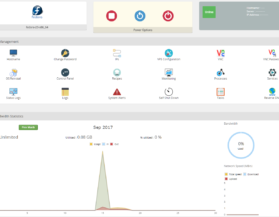 Dashboard shows an overview of the entire cloud (for administrators) or a personalized view of usage (for individual users).